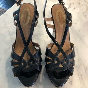 Elie Tahari Black Chaplin Sand Formal Shoes
